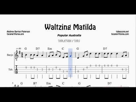 Waltzing Matilda Tab Sheet Music for Banjo