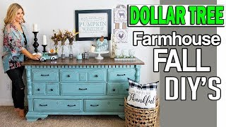 Dollar Tree Fall 2019 DIY 🔵 Room Decor Farmhouse 🔵 Dollar Tree Decor