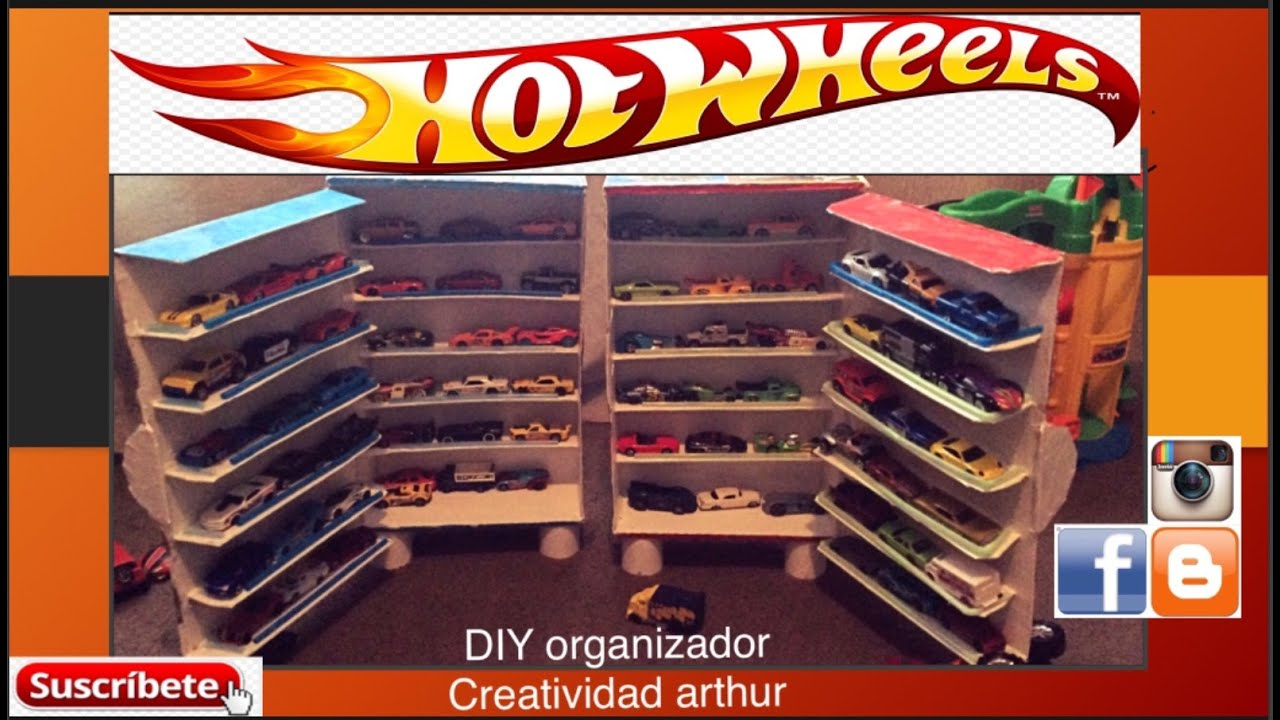 49a557ba9 DIY ORGANIZADOR hot wheels DIY ORGANIZER HOT WHEELS - YouTube