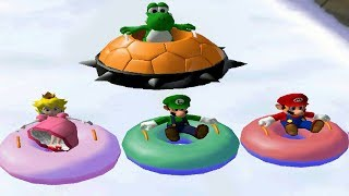 Mario Party 5 Mini Games - Yoshi Vs Mario Vs Luigi Vs Peach (Master CPU)
