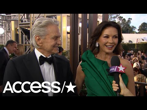 Catherine Zeta-Jones Reveals She Still Has The Card From The First Flowers Michael Douglas Sent Her!