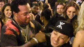 Busta Rhymes Busts A Fan While Partying At Jay Z