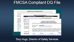 Webinar: Constructing and Maintaining an FMCSA Compliant DQ File