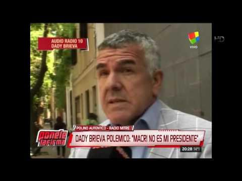 Dady Brieva: Macri no es mi presidente y no me representa