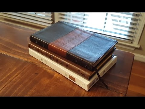 Crossway ESV UltraThin Edition in a couple of TruTone covers - Bible Review