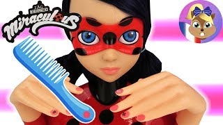 Miraculous Ladybug Tête à coiffer - Super héroïne Coiffures & Vernis à ongles   Deluxe Styling Head