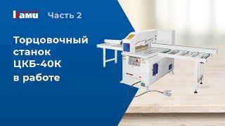 Торцовочный станок ЦКБ-40К - видео торцовки мебельного щита