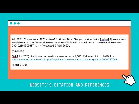 Easiest Way To Cite And Reference The Websites