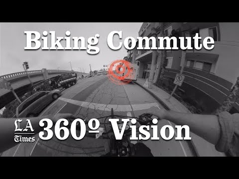 Is Biking To Work Safe In Los Angeles? | 360-degree video