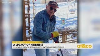 92-Year-Old Shovels Snow for Neighbor