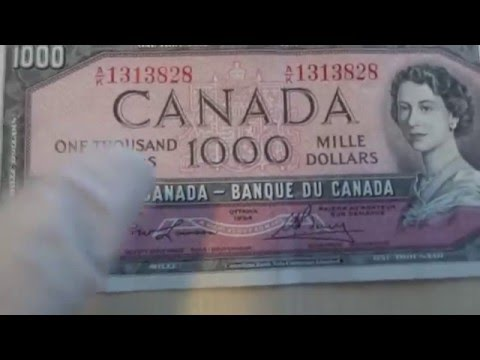 $1000 BANKNOTES!!!! EXTREME BANK FIND!!! Canada