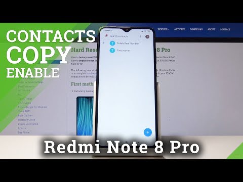 How To Transfer Contacts In XIAOMI Redmi Note 8 - Copy Contacts