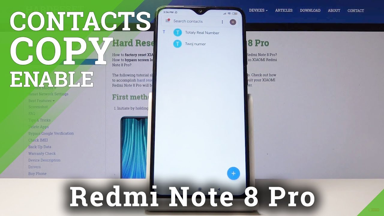 How To Transfer Contacts In Xiaomi Redmi Note 8 Copy Contacts Youtube
