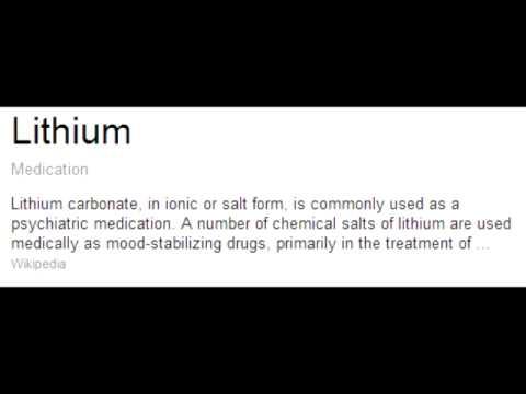 Lithium Drug Uses