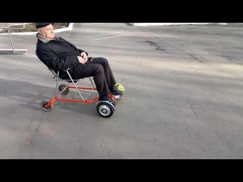 Гироскутер с креслом. hoverboard sitting attachment