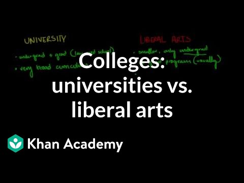 Comparing universities vs. liberal arts colleges