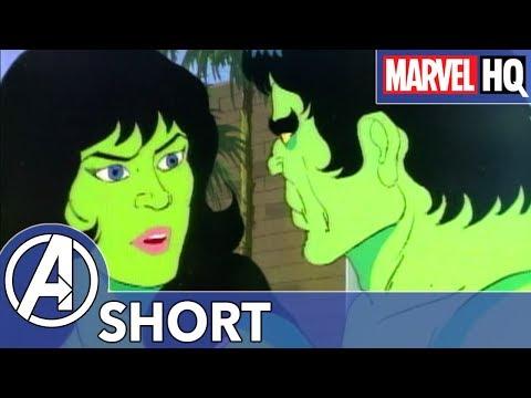 Hulk Fights a Wooly Mammoth! | Marvel Mash-Ups: Hulk | She-Hulk