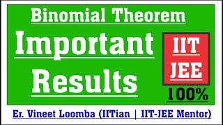 Important Results | Binomial Theorem | Free JEE Coaching