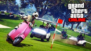 epic stunts golf cart busted    gta 5 online    pc