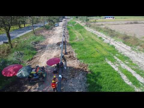 Pipeline installation by Backhoe