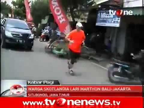 Scott Thompson Charity Run Bali to Jakarta - Kabar Pagi TV One