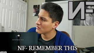 NF- REMEMBER THIS (AUDIO) REACTION!