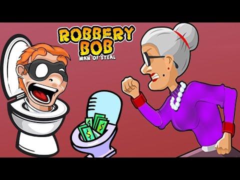 ВОРИШКА БОБ   2 Новая серия  Спрятались в УНИТАЗ Мультик игра для детей Robbery Bob