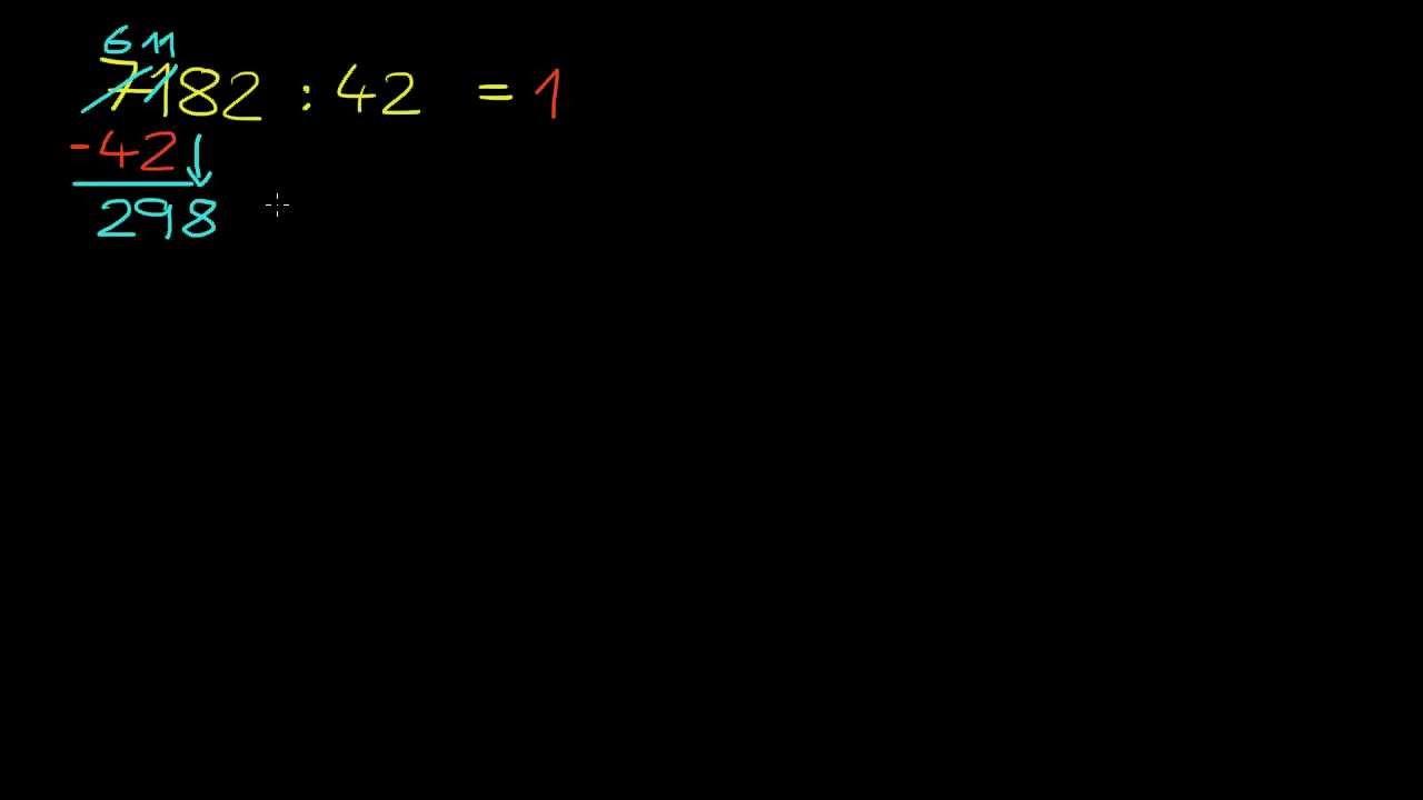 Beispiel: Teilen durch eine zweistellige Zahl - YouTube