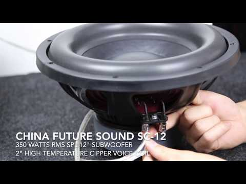 China Future Sound SC12 Product Overview - 700 Watt Max Peak Power Car Subwoofer