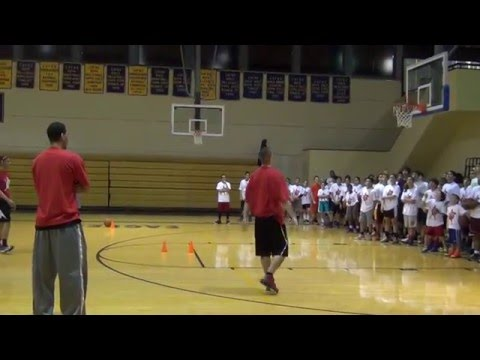 Danny Green Pro Cut Shooting Drill - San Antonio Basketball Camp
