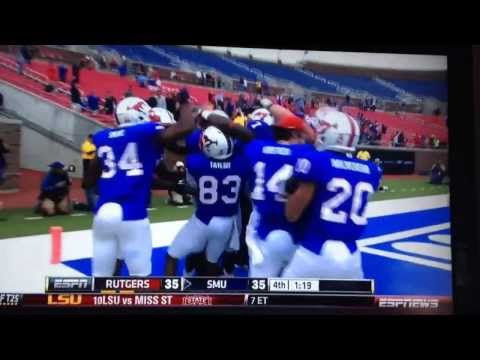 Garrett Gilbert SMU 2-Point Conversion vs. Rutgers 10-5-13