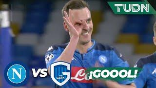 ¡Hat-trick! Milik imparable | Napoli 3 - 0 Genk | Champions League - J6 - Grupo E | TUDN