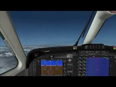 FSX TAKEOFF AND ENROUTE - SUPER KING AIR B200