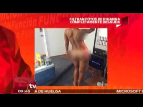 Filtran candentes fotos porno de Rihanna completamente desnuda
