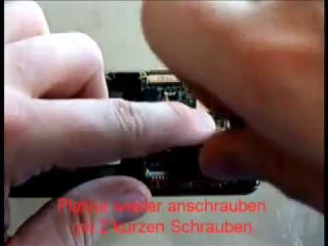 Samsung i900 Omnia Touchpannel Umbau 2/2
