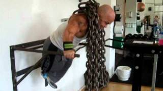 Dips with with 80kg 176 Lbs of iron chains around my neck.