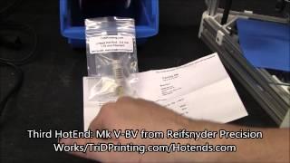 Kossel Mini 3D Printer Hot End Review
