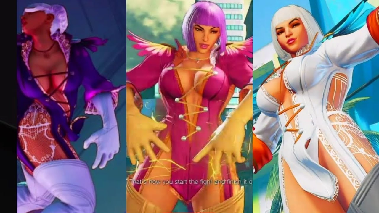 Street Fighter V Gloria Laura All Colors Devil May Cry Crossover Costume