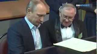 Putin Plays the Piano for Moscow Students