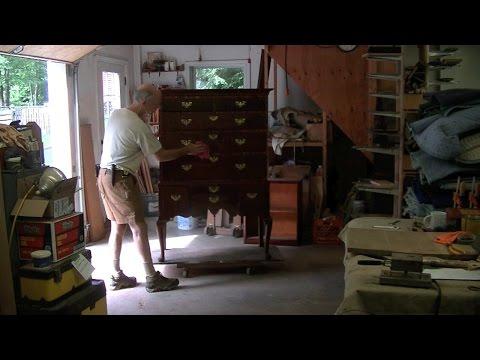 Restoring an Antique Highboy - Thomas Johnson Antique Furniture Restoration