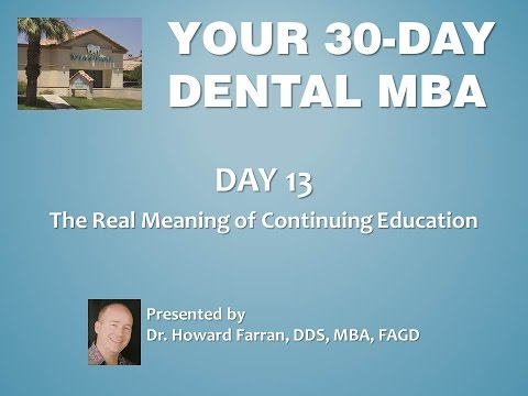Day 13: The Real Meaning of Continuing Education
