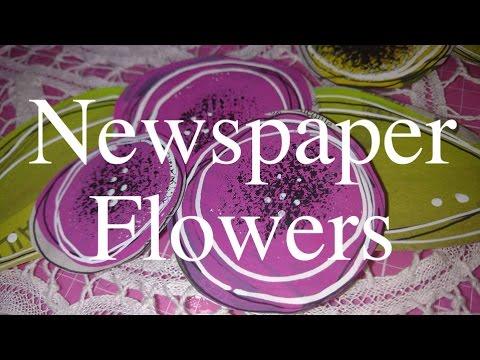 Make Newspaper Flowers!