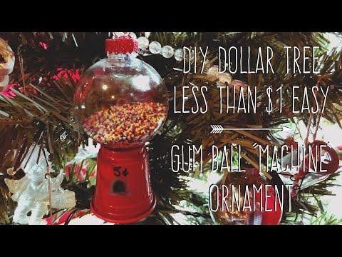 "DIY Dollar Tree  Less Than $1 Easy  Gum Ball ""Machine""  Ornament/Favor"