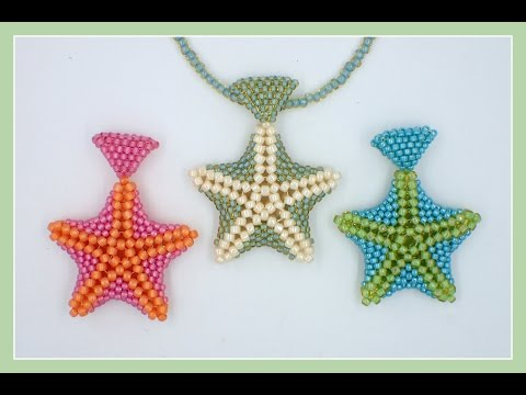 Beaded Starfish Pendant