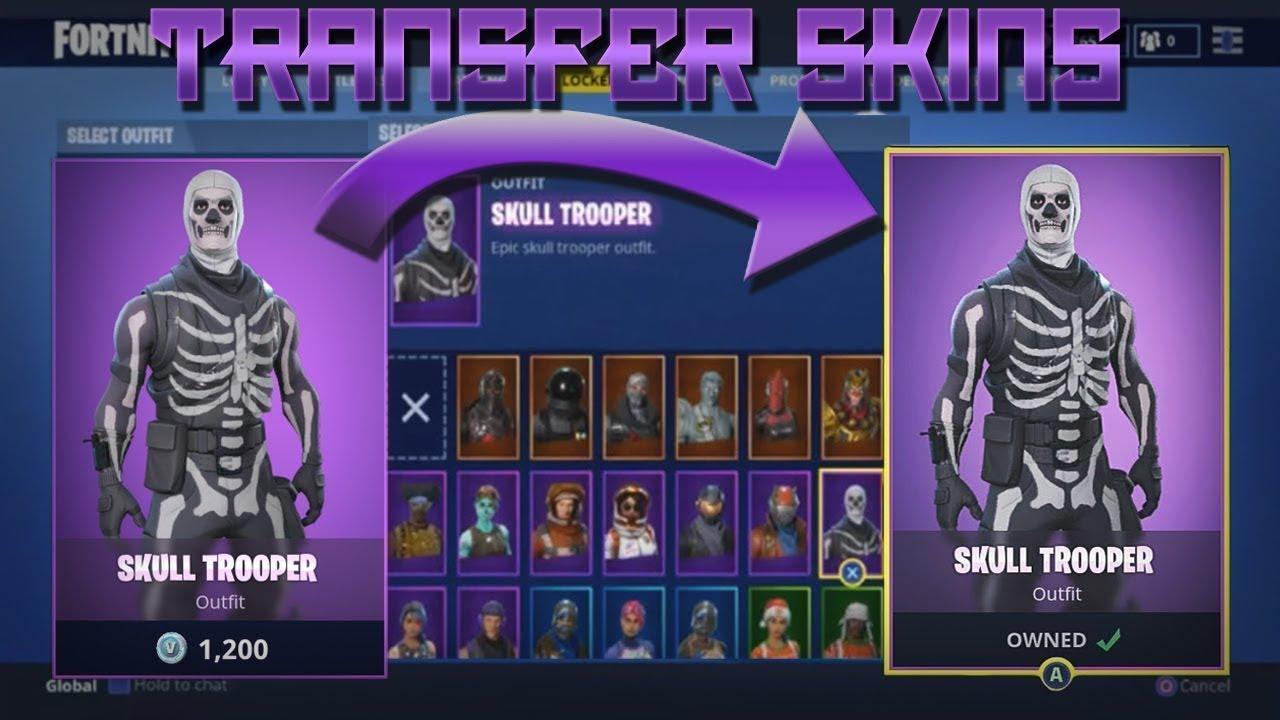 How To Get Skull Trooper On Fortnite (Transfer Glitch)