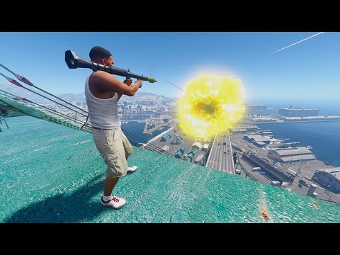 GTA 5 Mods - Nuclear Explosion Project (Rocket Launcher) [Mod Showcase]