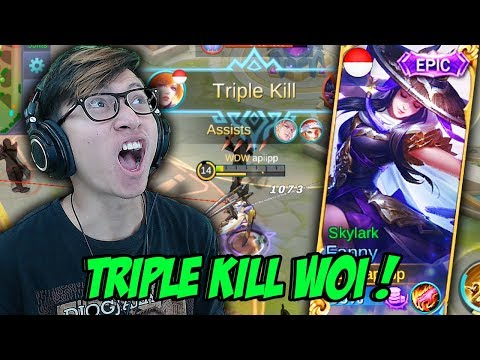 NEW SKIN FANNY SKYLARK TRIPLE KILL ENAK ENAK - MOBILE LEGENDS INDONESIA