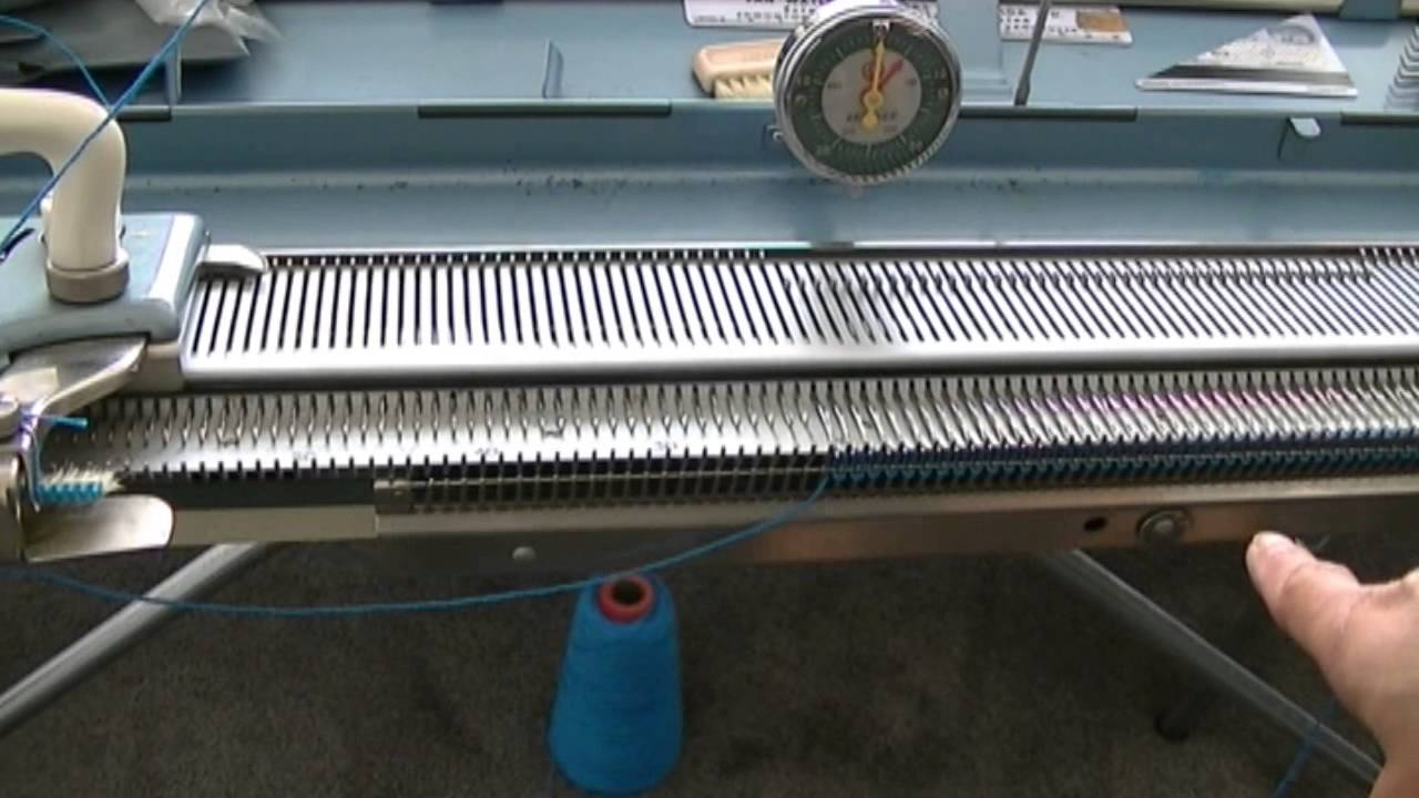 how to use knitting machine