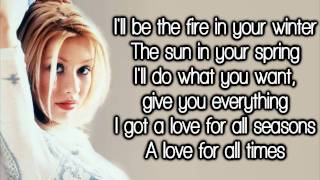 Christina Aguilera - Love For All Seasons (Lyrics) HD
