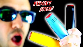 NEW FIDGET TOY STICK SPINNER TRICKS!  Amazing Desk Toy! + GIVEAWAY